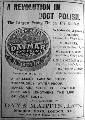 1913 May 16th Chas Barrett & Son boot polish