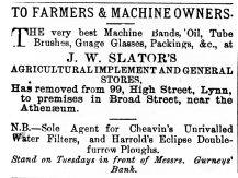 1874 July 4th J W Slator