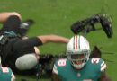 Video: Cameraman Almost Breaks His Camera During Patriots/Dolphins Game