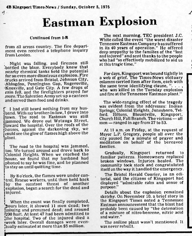 The Day Kingsport Wept-Eastman Explosion October 4, 1960 (4/5)