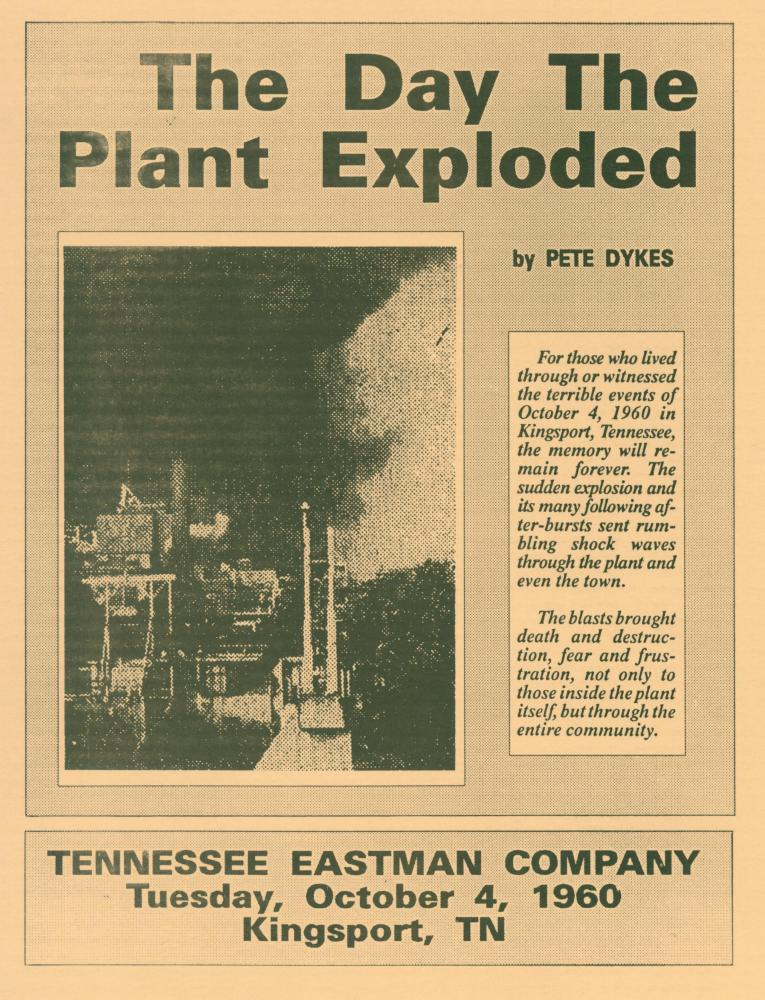 Eastman Explosion 1960-list of deceased