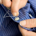 Sewing on a button