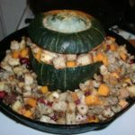 Stuffed Kabocha Squash Raw