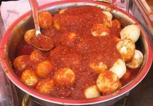 Telur Balado- eggs in chili sauce
