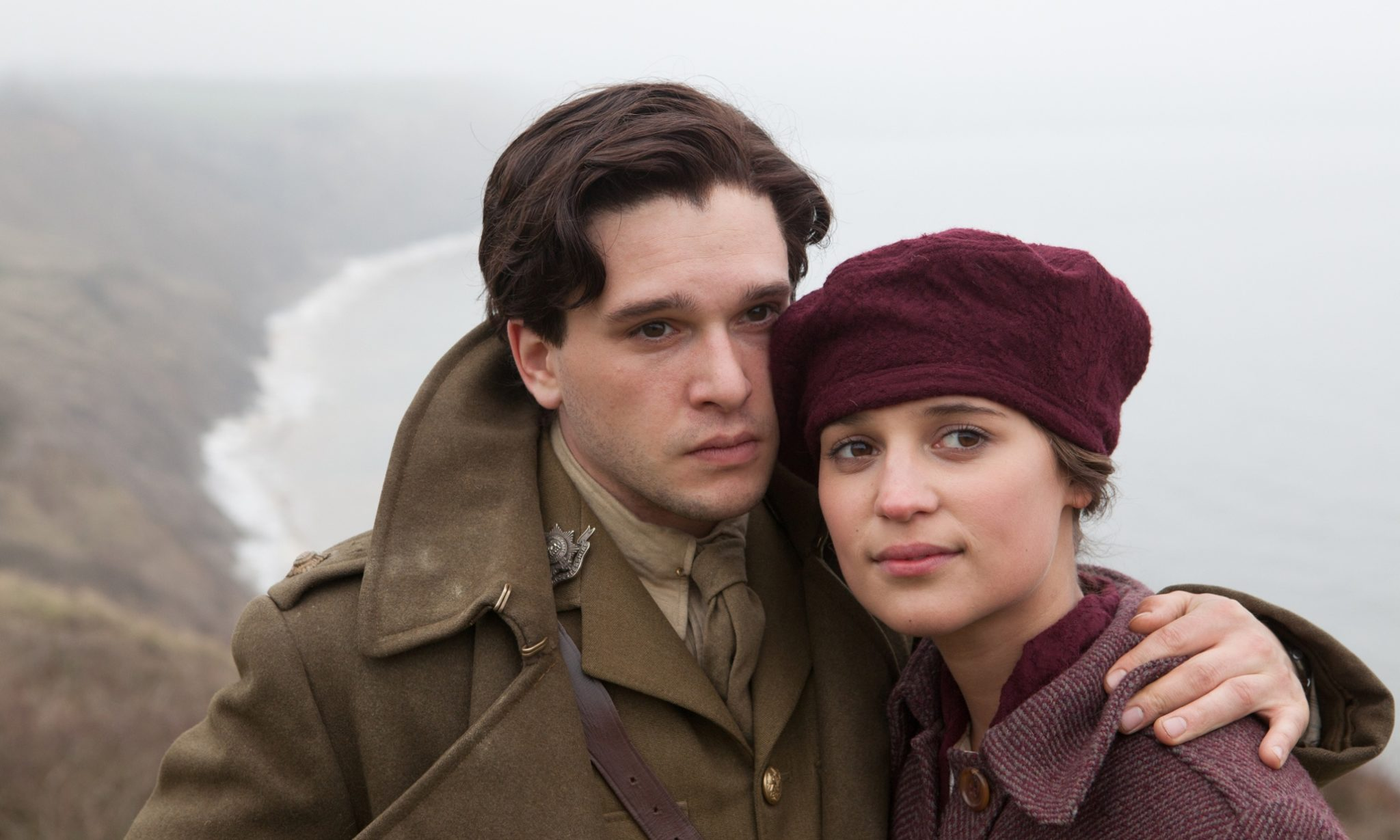 Hayley Atwell and Kit Harington as Vera Brittain and fiance Roland Leighton in the 2015 retelling of Testament of Youth