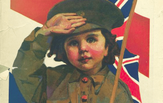 Uniformed youth. From cover of Canandian Publication Everywoman's World, July 1917