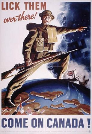 """""""Lick Them Over There"""" WWII poster"""