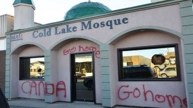 Vandalism of the Cold Lake Mosque in Alberta which took place after the shooting of a Canadian soldier in Ottawa October 2014