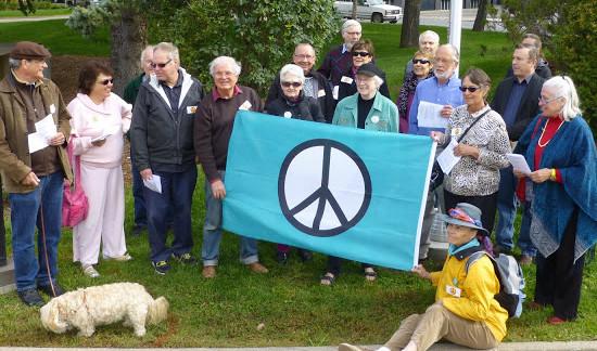 Peace Flag Raising 021