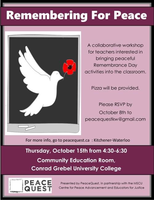 Teacher workshop poster