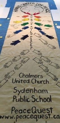 The banner as a work in progress.
