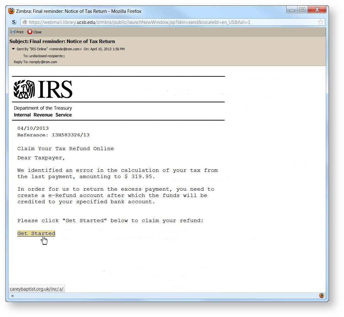 New phishing scam warning – emails disguised as HM revenue target students