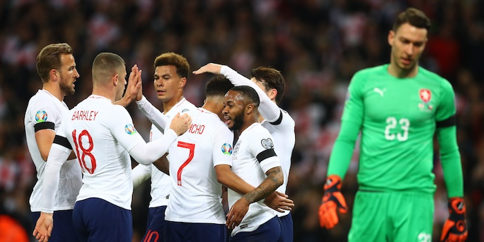 Raheem Sterling steals show in England's first Euro 2020 qualifier