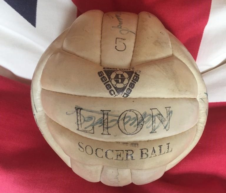 Football signed by Tottenham legends to be auctioned in aid of veterans' charity