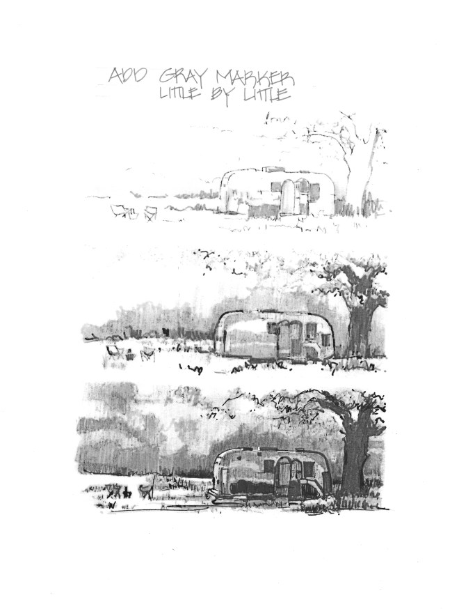 Airstream with Gray Marker