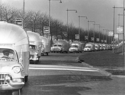 Airstream Caravan in German 1956