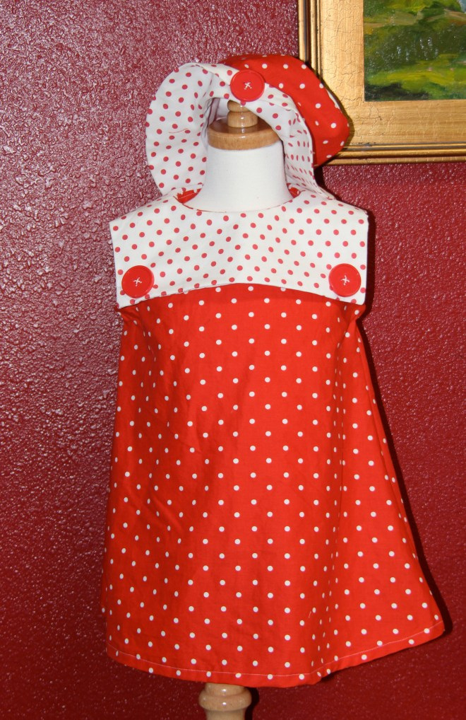 Red Sailor Dress with matching hat!