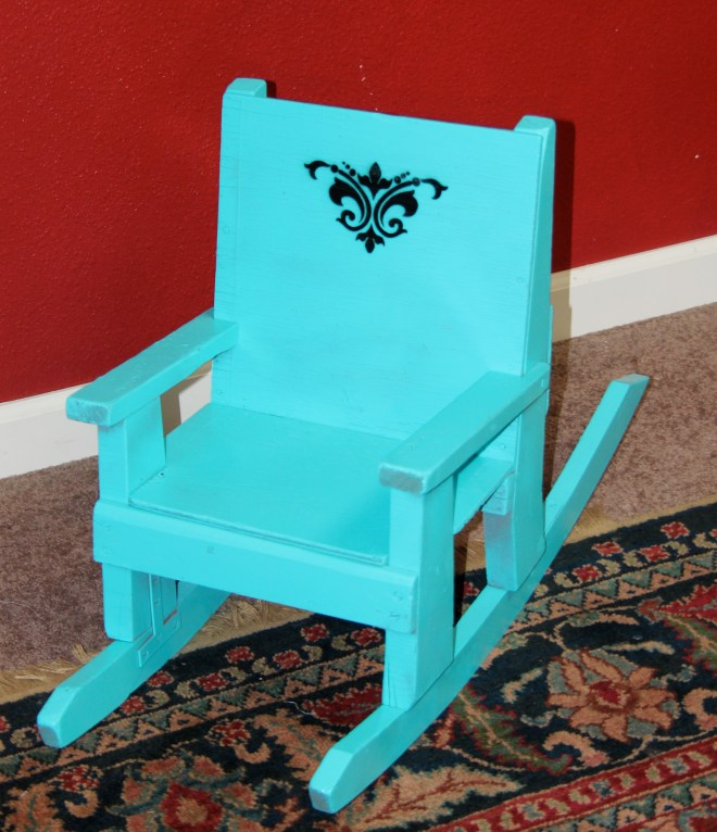 Grandpa probably made this special little rocker for his favorite Grandchild
