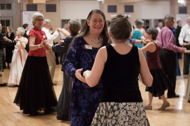 Susan Shaw dances with Linda Nelson, one of our regular KECD callers.