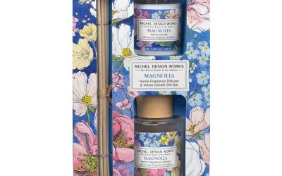Magnolia Home Fragrance Diffuser & Votive Candle Gift Set