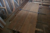 3 inches thick and 10 feet long. In process gluing up