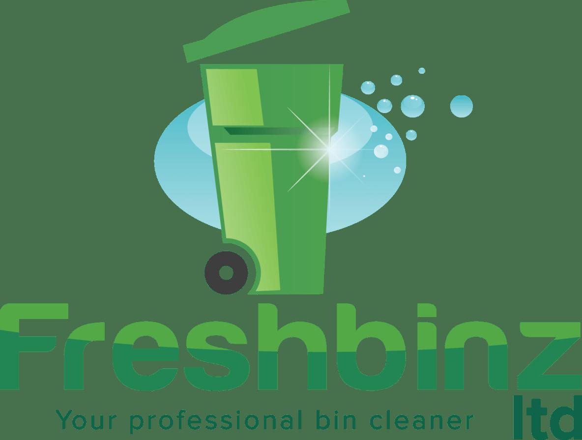 Freshbinz ltd logo, Green on White background