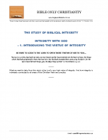 01 Integrity With God  –  Introducing The Virtue Of Integrity – A4 – final