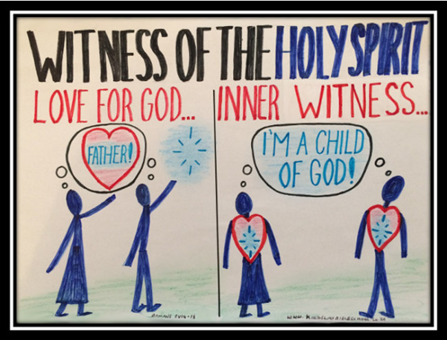 witness of the Holy Spirit; assurance of salvation