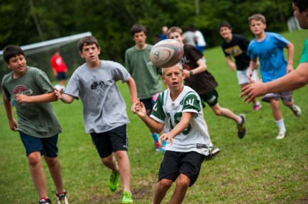 rugby at a boys overnight summer camp in new england