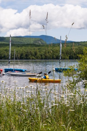view mountain lake new hampshire woods