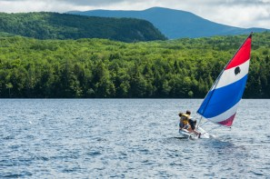 sailing clinic water lake mountains wilderness new england