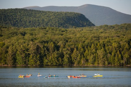 Evening paddle with Mt. Moosilauke in the background