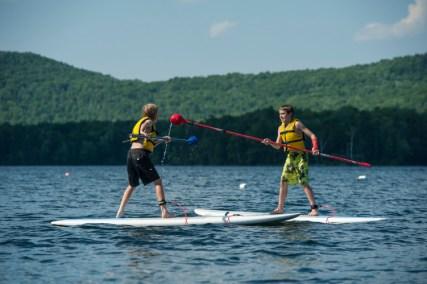 Paddleboard jousting