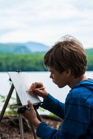 art drawing new england boys overnight summer camp