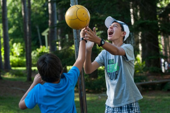 free time playing games boys sleepaway summer camp new england