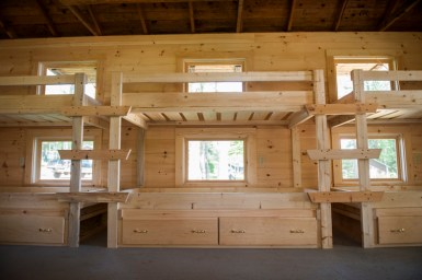 Some junior cabins now have drawers for better organization