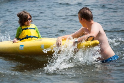 kayaking clinic waterfront lake new hampshire boys sleepaway summer camp new england