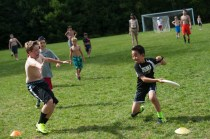 frisbee lacrosse game