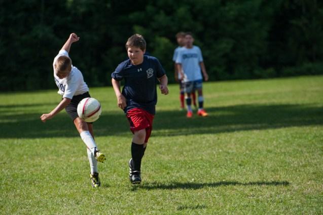 soccer field green grass beautiful facilities boys overnight camp
