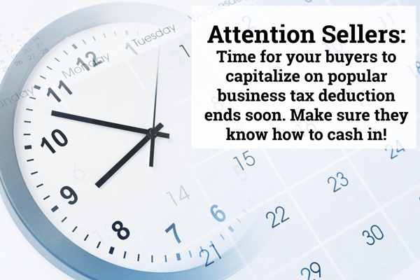 2017 Business Tax Deduction Ends Soon