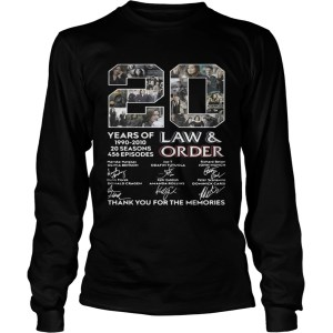 20 years of Law and Order 1990 2010 20 seasons 456 episodes LongSleeve
