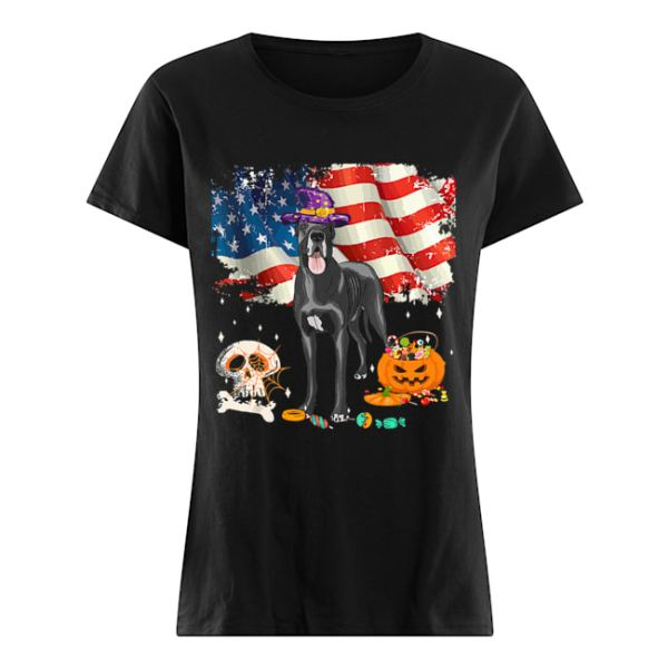 Great dane Dog Halloween Costume Gift Flag America T-Shirt Classic Women's T-shirt