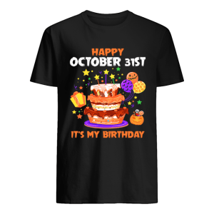 Happy October 31st It's My Birthday Halloween T-Shirt Classic Men's T-shirt