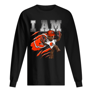 Baby Groot I Am Cleveland Browns  Long Sleeved T-shirt