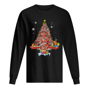 Kansas City Chiefs Players Signatures Christmas Tree  Long Sleeved T-shirt