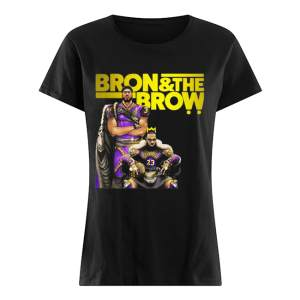 LeBron James Bron & The Brow Anthony Davis Los Angeles Lakers  Classic Women's T-shirt