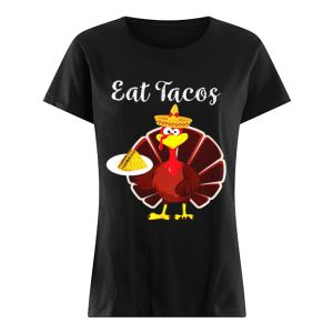 Turkey Eat Tacos Funny Mexican Sombrero Thanksgiving  Classic Women's T-shirt