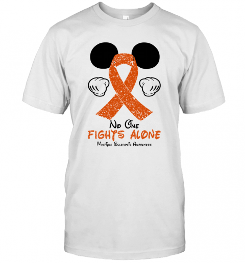 Mickey Mouse No One Fights Alone Multiple Sclerosis Awareness T-Shirt Classic Men's T-shirt