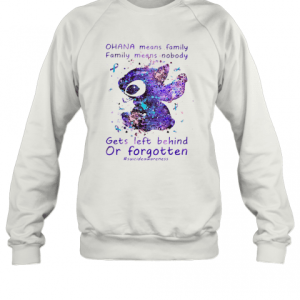 Stitch Ohana Means Family Cancer Awareness T-Shirt Unisex Sweatshirt