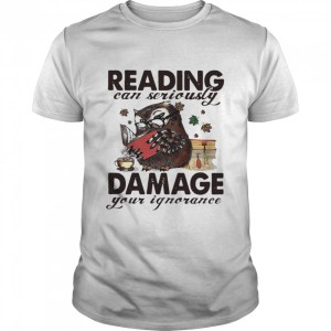 Owl Reading Can Seriously Damage Your Ignorance  Classic Men's T-shirt